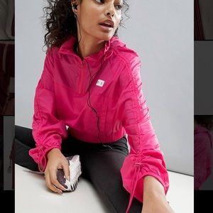 ASOS pink cropped windbreaker